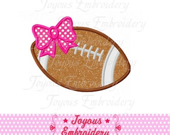 Instant Download Football Bow Applique Embroidery Design NO:1589