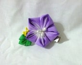 Small purple bellflower (kikyo) -  kanzashi flower