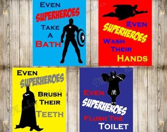 Superheroes bathroom | Etsy