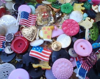 70 Fancy Sewing Buttons 8 to 30mm Buttons