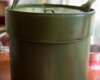 Olive Leather La Bagagerie Purse