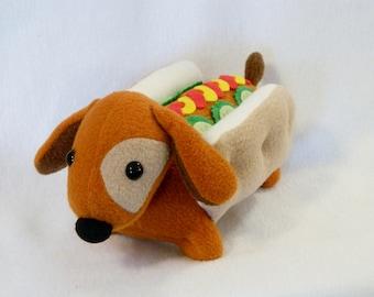 Stuffed wiener dog pickles dachshund plush animal