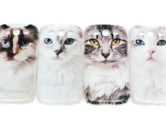 Ragdoll cat mobile case for Samsung galaxy 3