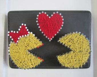 Mr. and Mrs. Pac-Man String Art