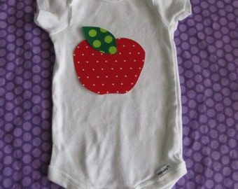 Apple Iron On Applique - make your own apple baby shirt or apple teacher craft