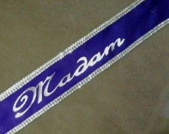 Pageant sashes, bridal party packages, bridal party favors , custom pageant sashes you choose colors