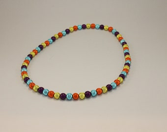 Acid Orbits Beaded Necklace