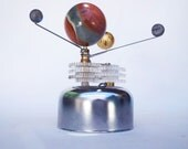 Orrery (mechanical gadget): Jasper Gemstone Sphere, unique novelty gift for a birthday or anniversary