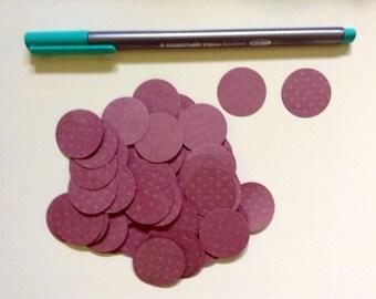 50 cardboard circles dark pink 2,5 cm