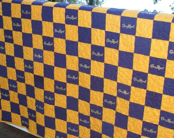 Crown Royal Quilt Custom Made to Order (You pick the size and pattern) Christmas Gifts for Men, Anniversary, Birthday Gift, Etsy Dudes