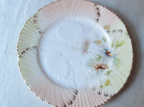 Vintage Hand Decorated  Embossed Plate, Floral Motif.Bridesmaid Gift,Get Well Gift,Housewarming Gift, Christmas Gift, Kwanzaa Gift