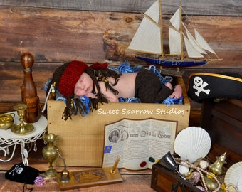 Captain Jack Hat - Baby Pirate Hat - One of a Kind - Great Photography Prop