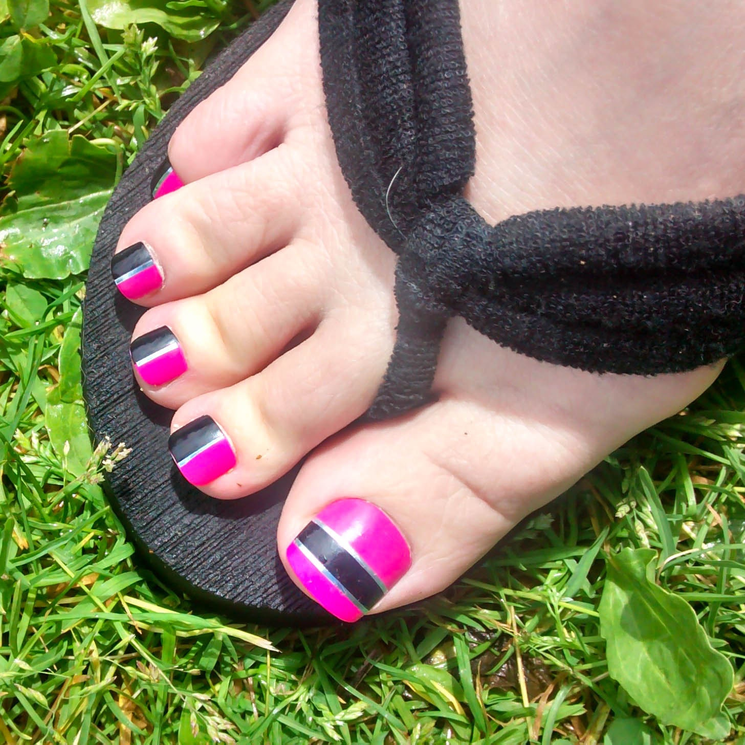 Hot Pink Fake Toenails, Toenails, Toe Nail, Press on, Acrylic ...