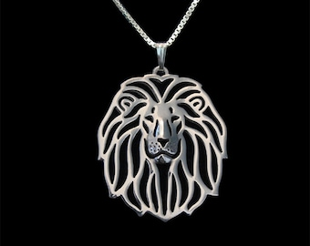Lion - sterling silver pendant and necklace.