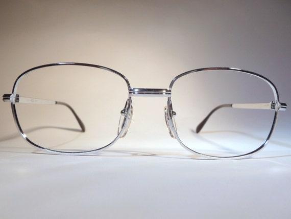 metal eyeglasses vintage made in italy grey frames 1980s