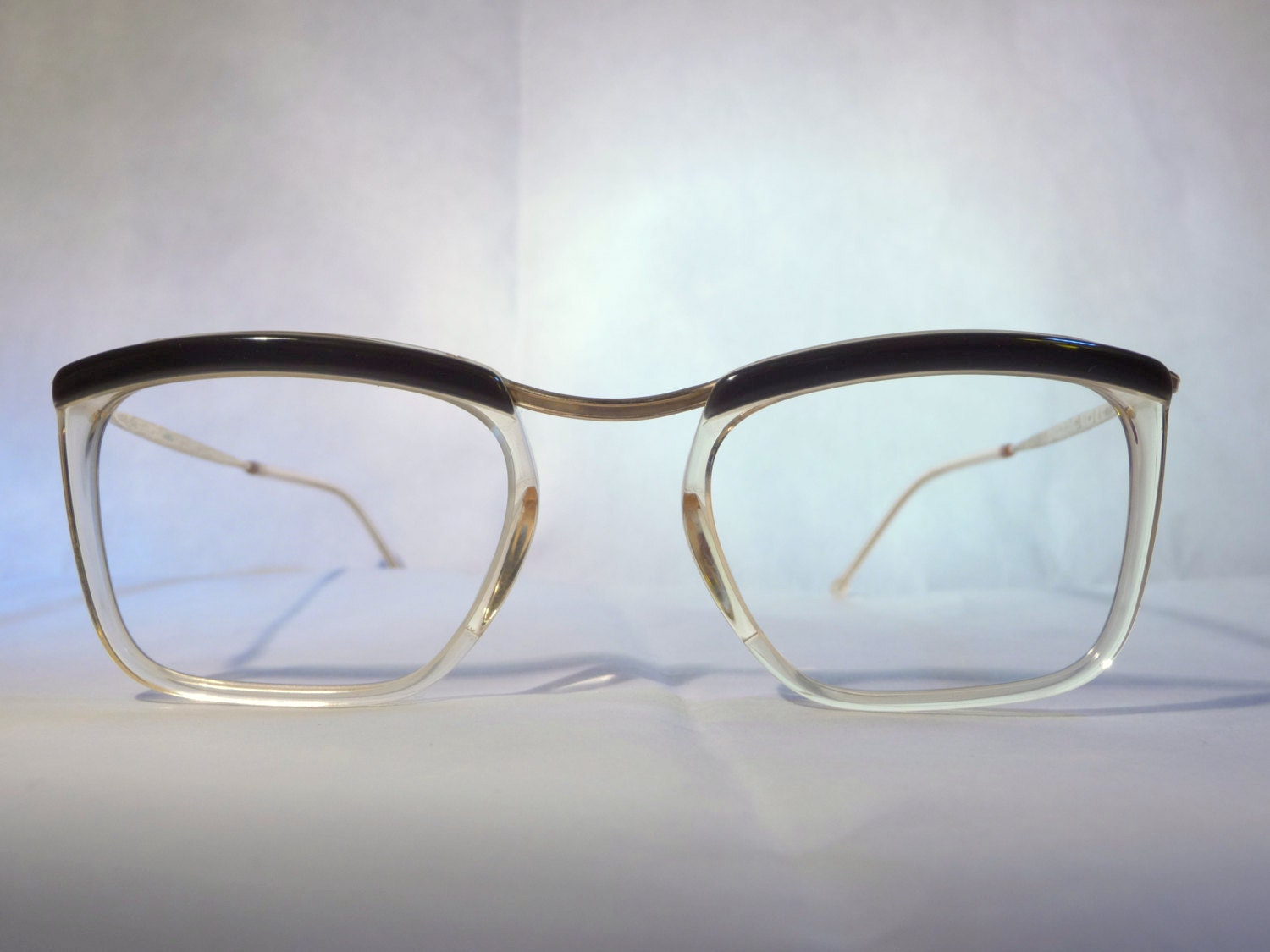 Frame Of Glasses In French : Amor 1970s clubmaster frames French browline eyeglasses