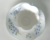 Shelley Bone China Tea Cup &  Saucer -- Flax and Asters