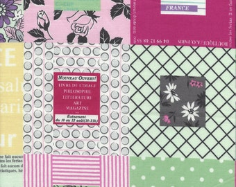 Picture Window in Pink and Green by Suzuko Koseki for  Yuwa of Japan
