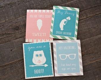 Printable Children's Valentine Cards