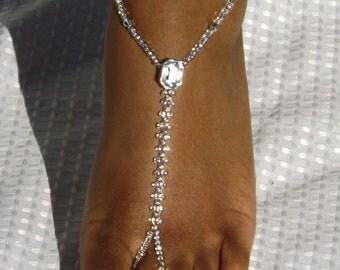 Beach Wedding Barefoot Sandals Foot Jewelry Anklet Destination Wedding Bridal Accessories Bridesmaids Gift