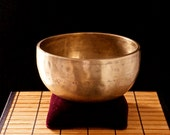 Ornate ceremonial or vibrational healing Antique Tibetan Singing Bowl
