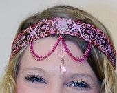 Sunset Goddess Festival Crown- Boho Hippie Head Jewelry