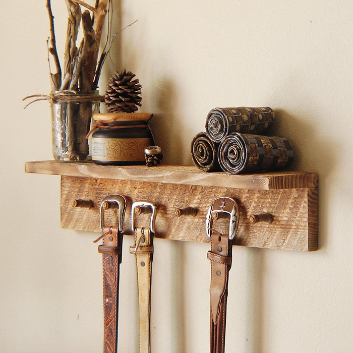 Barnwood Coat Rack Entryway