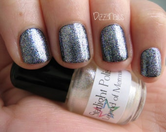 Legend of Mermaid Duochrome Glass Fleck Effect Top Coat Nail Lacquer Indie Starlight Polish