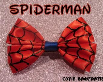 Spiderman Hair Bow Marvel Disney Inspired