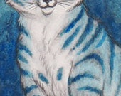 "Bookmark - Original artwork ""Cid The Snowcat2"""