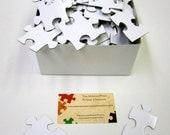 Unique White Wedding Guest Book Puzzle  White Puzzle White Puzzle Pieces for Event Puzzle