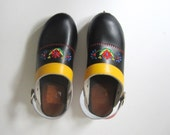 Swedish Floral Embroidered Clogs Women's US size 8