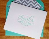 Letterpress Thank You Cards- Tiffany Blue