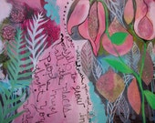 """Wild. Mixed media painting on paper. 24"""" x 18"""""""