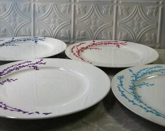 Boho Dishes Handpainted Set of 4