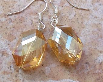 Crystal topaz women earrings prom silver fashion summer affordable feminine jewelry