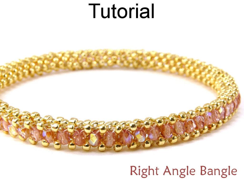 beading tutorial pattern bracelet tubular right angle weave