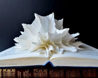 Book Sculpture - Abstract Art - Altered Book - Paper Art