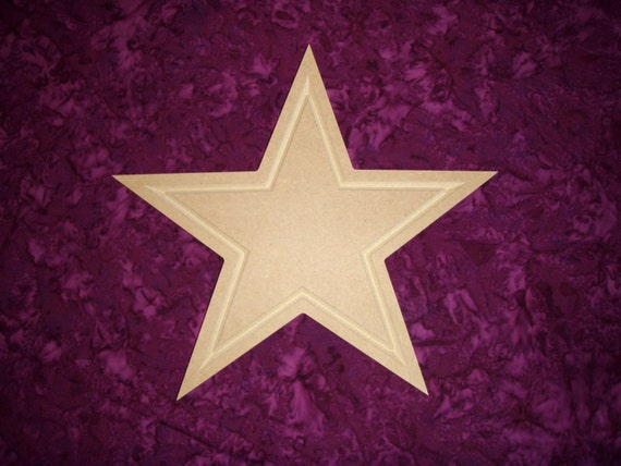 Star Cut Out Unfinished MDF Wooden Shapes 12 Inch