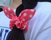 SALE Bunny ear hairtie scrunchie