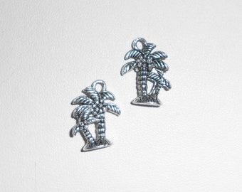 Silver Palm Tree Charms