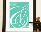 UNIQUE ENGAGEMENT GIFT - Ampersand Print - For an engagement, destination wedding, anniversary