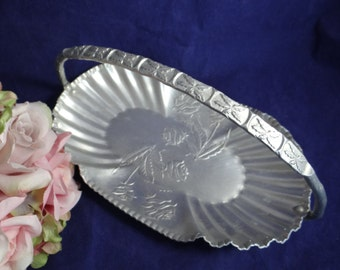Vintage Farber & Schlevin Hand Wrought Aluminum Serving Dish I803