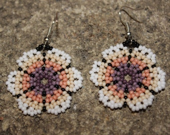 Huichol Peyote Beaded Earrings R-1