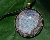Ohio Map Necklace Pendant - 1956 National Geographic Map