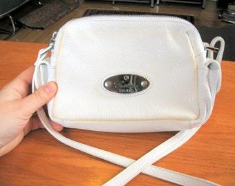 SALE Vintage 1990s Christina Italia White Leather Purse