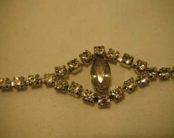 Vintage rhinestone bracelet with safety clasp