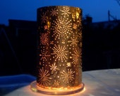 Stargazing Copper Candle Lantern (for indoor or outdoor use)