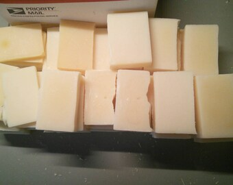 Bundle of 6 Unscented Lard and Lye Soaps - Cast off / Discolored Bars