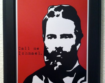 Herman Melville with Quote Art Print